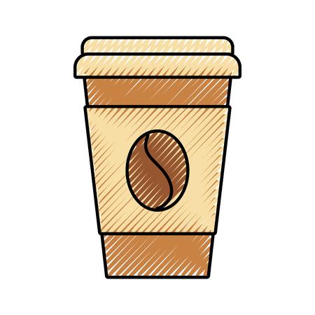 paper coffee cup bean fresh beverage vector illustration Reklamní fotografie - 89850486