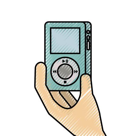 music player gadget display modern technology vector illustration Imagens - 89849799