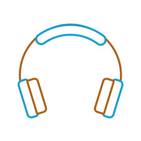 headphones technology music sound gadget icon vector illustration Illustration
