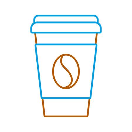 paper coffee cup bean fresh beverage vector illustration Illusztráció