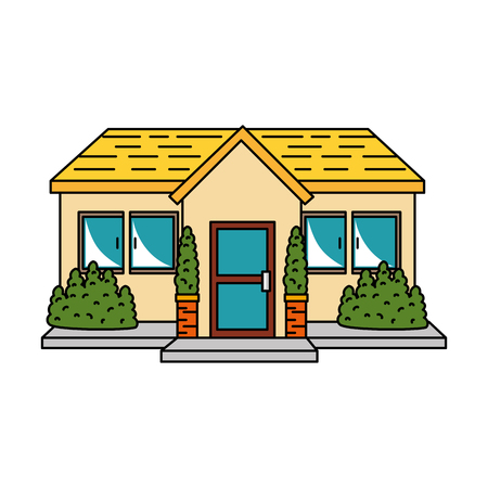 beautiful front of house vector illustration design