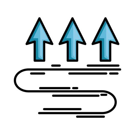 pijlen omhoog temperatuur pictogram vector illustratie ontwerp