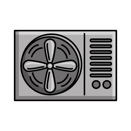 air conditioner isolated icon vector illustration design Иллюстрация