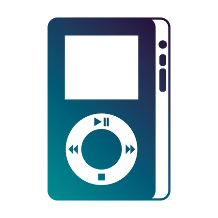 music player device for listening to music vector illustration