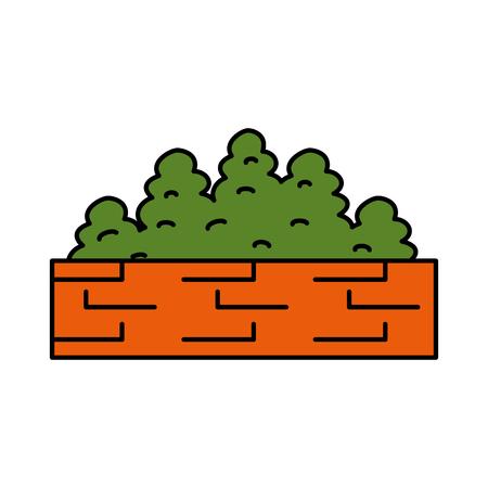 garden shrub construction icon vector illustration design Ilustracja