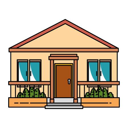 beautiful front of house vector illustration design Banco de Imagens - 89851060