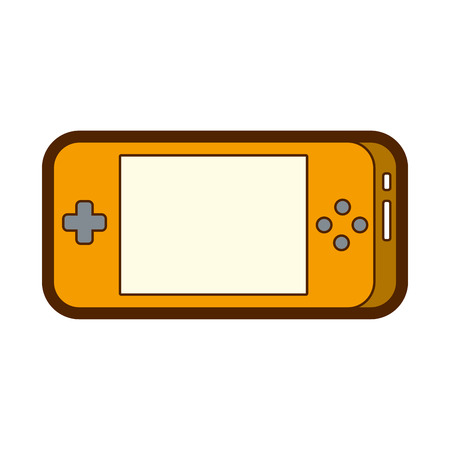 portable video game console gadget technology vector illustration Illustration