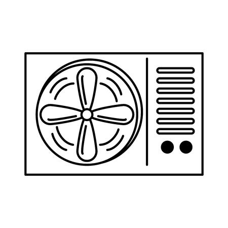 Ikonenvektor-Illustrationsdesign der Klimaanlage lokalisiertes Standard-Bild - 89851178
