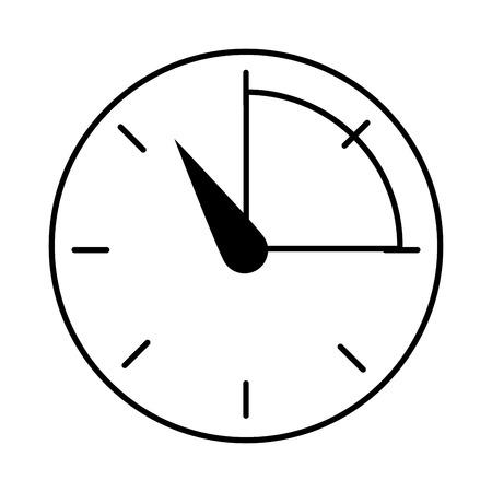 manometro isolato icona illustrazione vettoriale progettazione Vettoriali