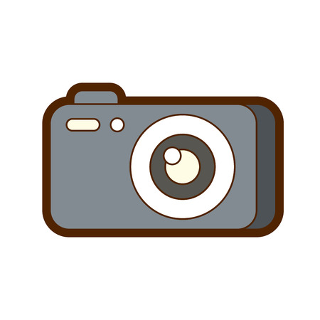 photography camera gadget studio equipment professional vector illustration