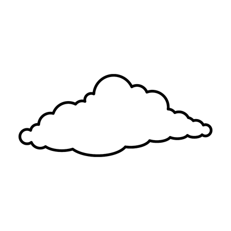 cloud sky silhouette icon vector illustration design Stock Vector - 89851315