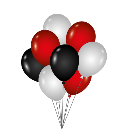bunch of birthday balloons for party and celebrations vector illustration Banco de Imagens - 89851420