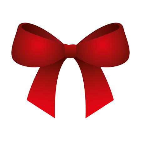 cute bow ribbon tied decoration ornament vector illustration