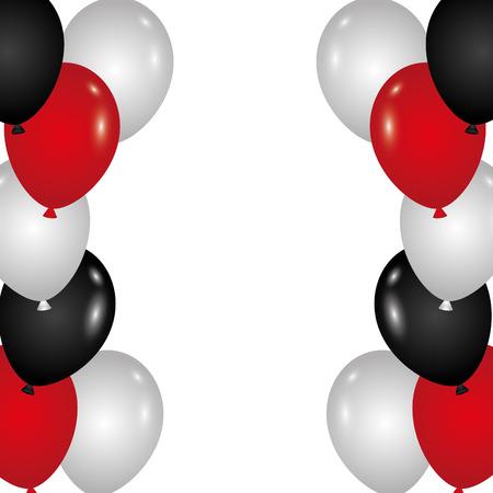 Festliche Grenzballone für Dekorationspartykarten-Vektorillustration Standard-Bild - 89851489