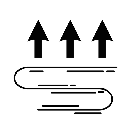 arrows up temperature icon vector illustration design