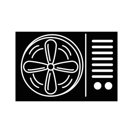 Airconditioner geïsoleerd pictogram vector illustratie ontwerp Stockfoto - 89851548