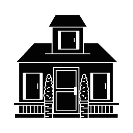 Schöne Front des Hauses Vektor-Illustration-design Standard-Bild - 89853844