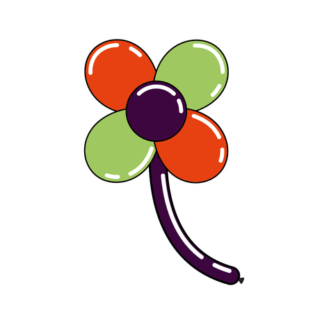 balloons shape flower stem decoration carnival vector illustration Stock fotó - 89854090