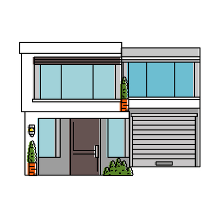 Schöne Front des Hauses Vektor-Illustration-design Standard-Bild - 89854123