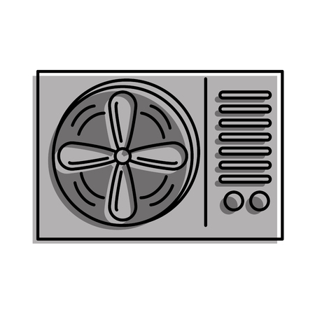 air conditioner isolated icon vector illustration design Vectores