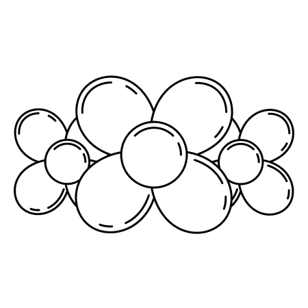 balloon in the shape of a flowers on the white background vector illustration Ilustração