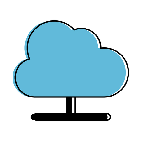 cloud computing isolated icon vector illustration design