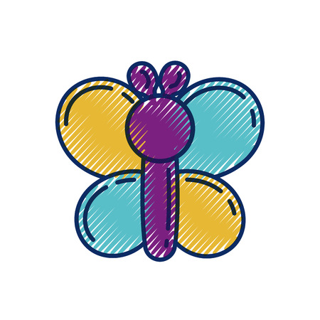 funny inflatable shaped balloons butterfly animal vector illustration Illustration