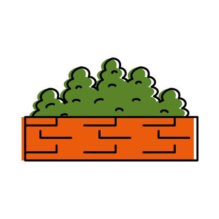 garden shrub construction icon vector illustration design Illustration
