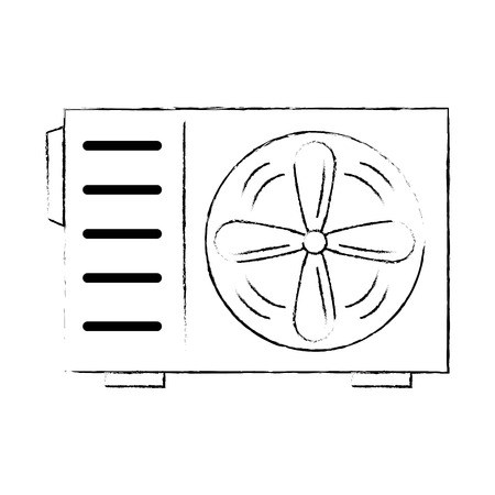 air conditioner isolated icon vector illustration design Ilustracja