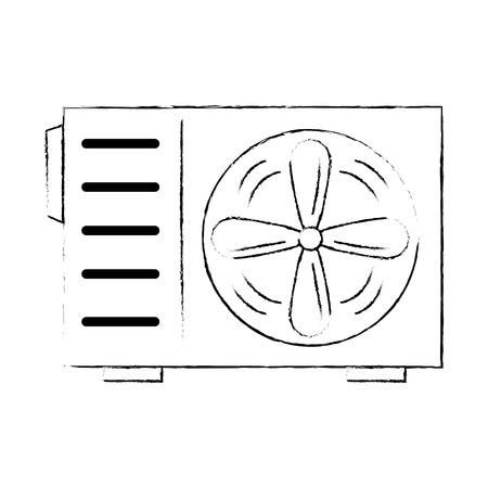 air conditioner isolated icon vector illustration design Stock Illustratie