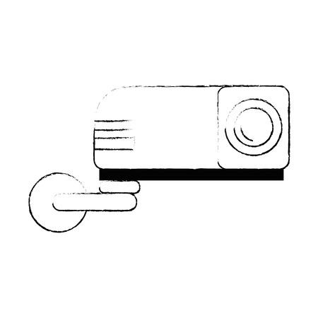 Straal video geïsoleerd pictogram vector illustratieontwerp Stockfoto - 89854721