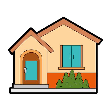 beautiful front of house vector illustration design Banco de Imagens - 89854884
