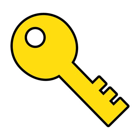 Progettazione dell'illustrazione di vettore dell'icona isolata vecchia chiave Archivio Fotografico - 89854949