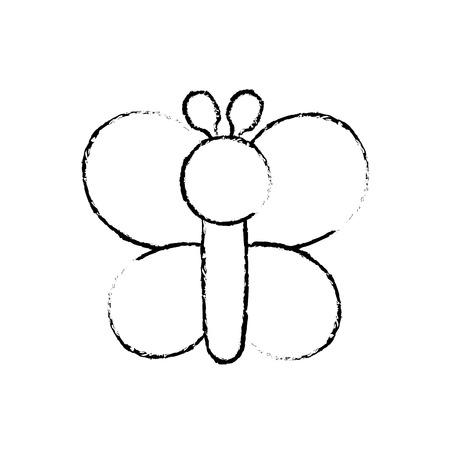 Illustrazione animale di vettore della farfalla a forma di gonfiabile divertente dei palloni Archivio Fotografico - 89854957