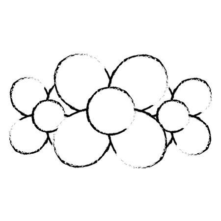 Ballon sous la forme d'une fleurs sur l'illustration vectorielle fond blanc Banque d'images - 89855082