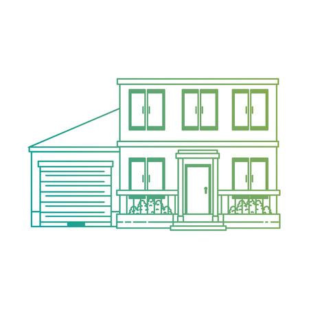 beautiful front of house vector illustration design Banco de Imagens - 89855290