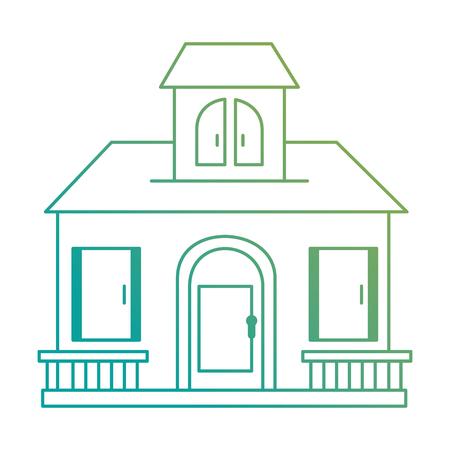 beautiful front of house vector illustration design Banco de Imagens - 89855313