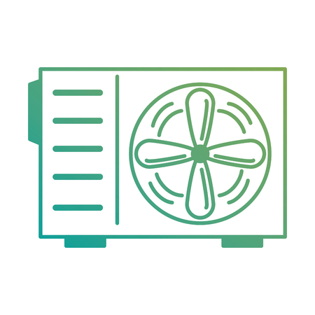 Airconditioner geïsoleerd pictogram vector illustratie ontwerp