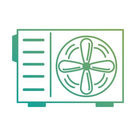 Ikonenvektor-Illustrationsdesign der Klimaanlage lokalisiertes Standard-Bild - 89855360