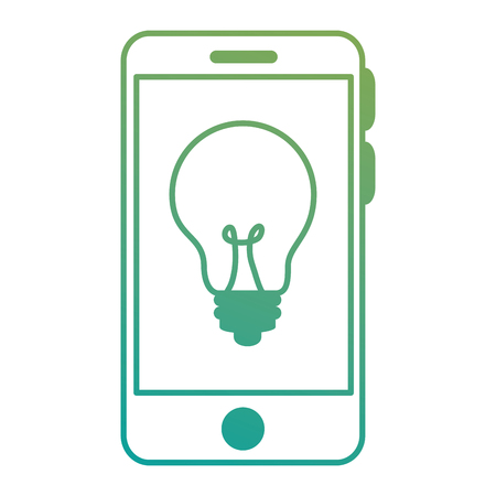 smartphone device with bulb vector illustration design
