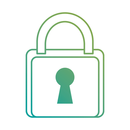 safe padlock isolated icon vector illustration design Stock Vector - 89856009