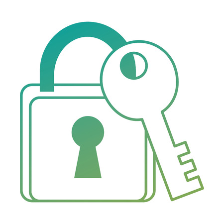 safe padlock with key vector illustration design Stock Vector - 89855686