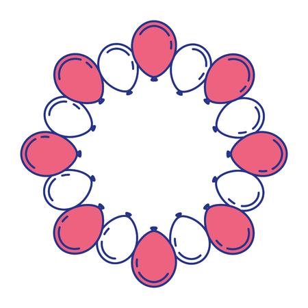 素敵なバルーン サークル トレンディなお祝いお祝いベクトル図に最適  イラスト・ベクター素材
