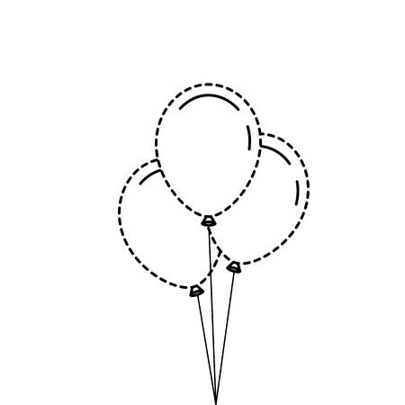 Tre palloncini decorazione partito partito illustrazione vettoriale Archivio Fotografico - 89856887