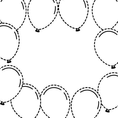 ballonnen frame decoratie klaar voor posters en kaarten vector illustratie