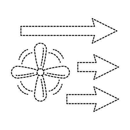Fan mit Pfeilen isoliert Symbol Vektor Illustration design Standard-Bild - 89879037