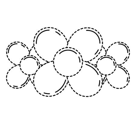 Ballon en forme de fleurs sur l'illustration vectorielle de fond blanc Banque d'images - 89886590
