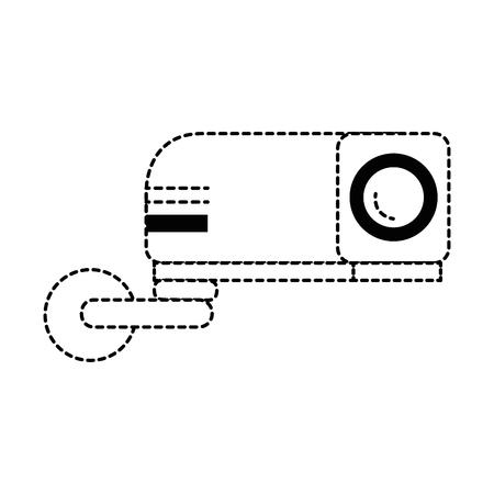 ビーム ビデオ分離アイコン ベクトル イラスト デザイン