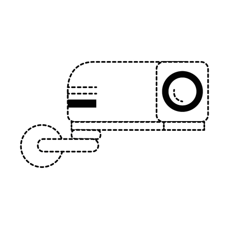 beam video isolated icon vector illustration design Иллюстрация