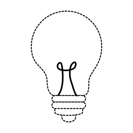 bulb light isolated icon vector illustration design Illusztráció